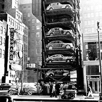 Эволюция паркингов от дома Гауди (1910г.) до Porsche Design Tower (2017г.)
