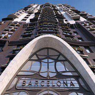 Клубный дом «Barcelona» - участник конкурса  «Керамогранит в архитектуре 2017»