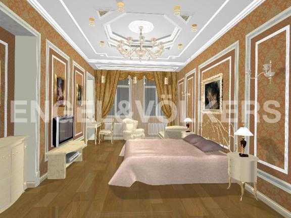 Элитные квартиры в Центральный р-н. Санкт-Петербург, Дворцовая наб. 12-14. Дизайн-проект спальни