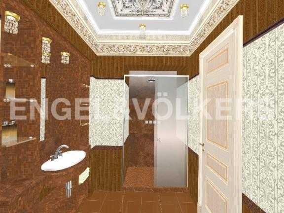 Элитные квартиры в Центральный р-н. Санкт-Петербург, Дворцовая наб. 12-14. Дизайн-проект ванной комнаты