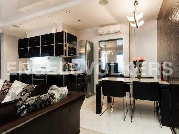 Кухня-столовая в гостиной