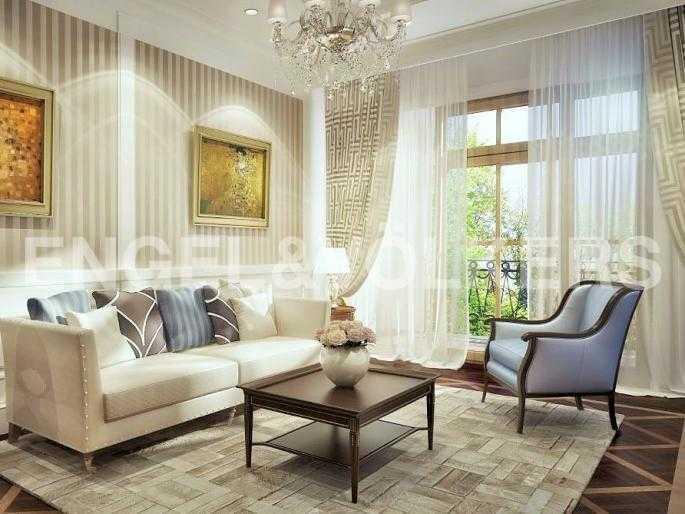 Элитные квартиры в Центральном районе. Санкт-Петербург, Конногвардейский б-р, 5. Дизайн-проект гостиной