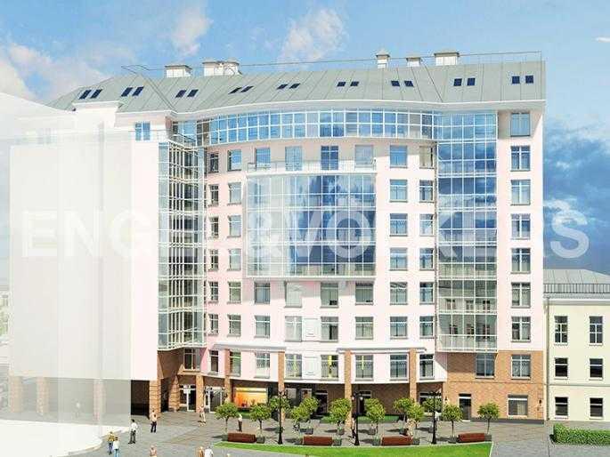 Элитные квартиры в Петроградском районе. Санкт-Петербург, Ждановская 10, литер А. Фасад со стороны двора