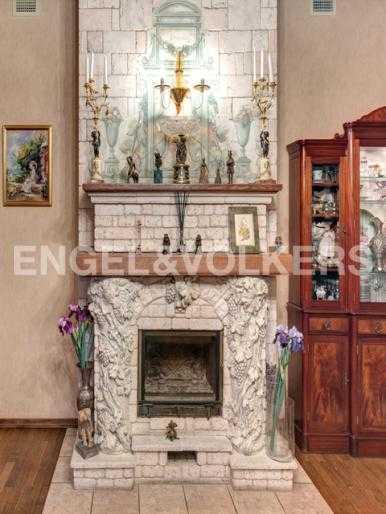 Элитные квартиры на . Санкт-Петербург, 2-я Березовая аллея, 34. Камин в гостиной