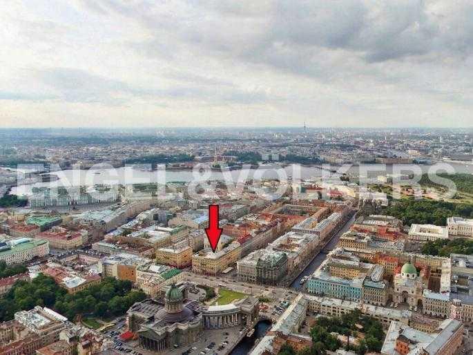 Элитные квартиры в Центральном районе. Санкт-Петербург, Мал. Конюшенная, 9. Месторасположение