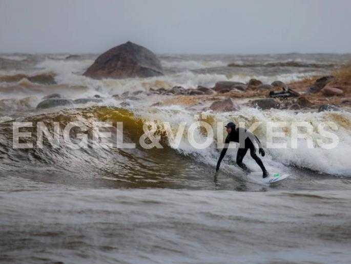 Серфинг на Финском заливе (г. Сестрорецк)