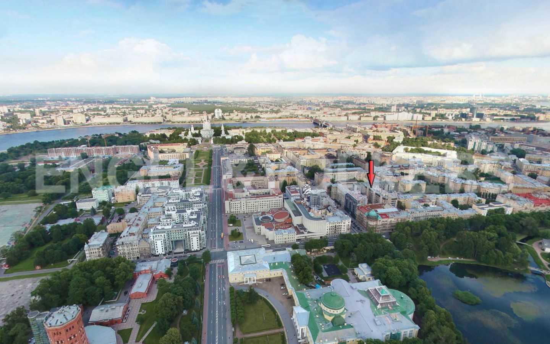 Элитные квартиры в Центральном районе. Санкт-Петербург, Тверская, 1А. Вид сверху