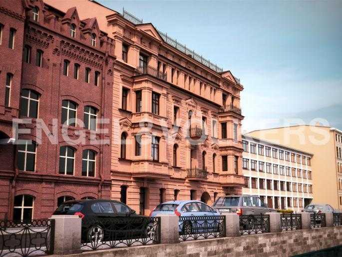 Элитные квартиры в Центральном районе. Санкт-Петербург, наб. Адмиралтейского канала, 15. Фасад корпуса «Гаага» по наб. Адмир кан.