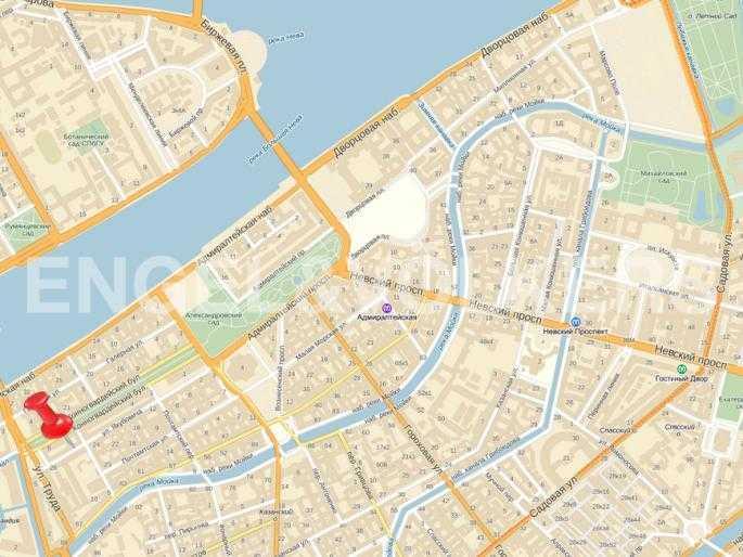 Элитные квартиры в Центральном районе. Санкт-Петербург, Конногвардейский б-р, 5. Месторасположение