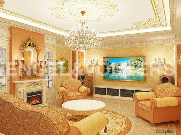 Элитные квартиры на . Санкт-Петербург, Вязовая, 10. Дизайн-проект гостиной