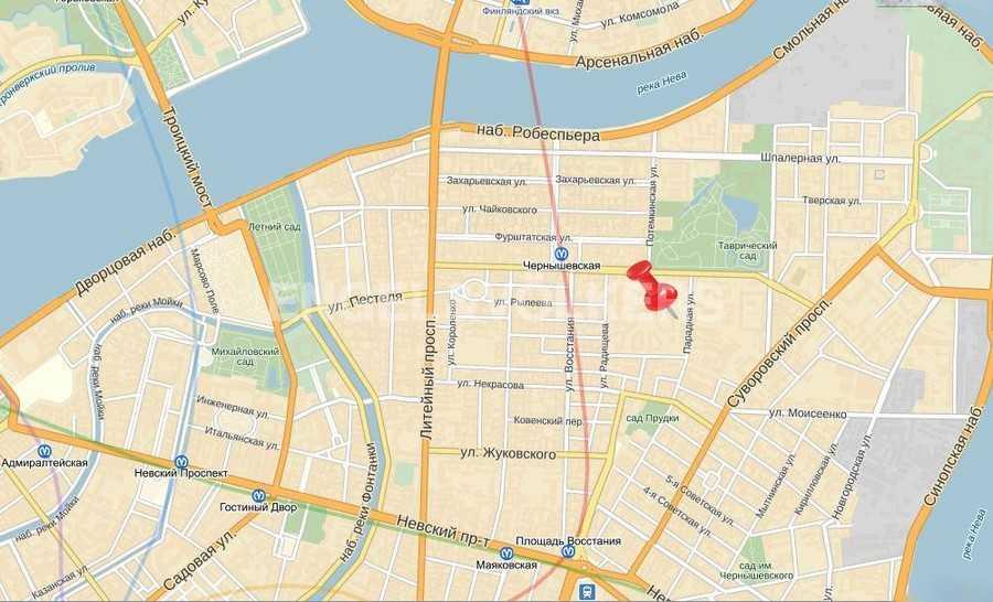 Элитные квартиры в Центральном районе. Санкт-Петербург, Парадная ул., 3. Меcnорасположение