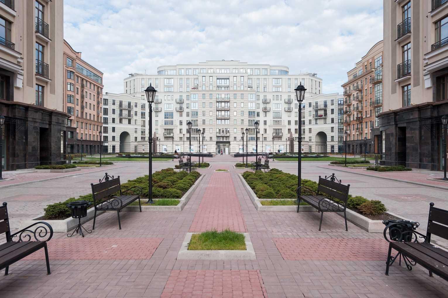 Элитные квартиры в Центральном районе. Санкт-Петербург, Парадная ул. 3. Внутренняя территория комплекса