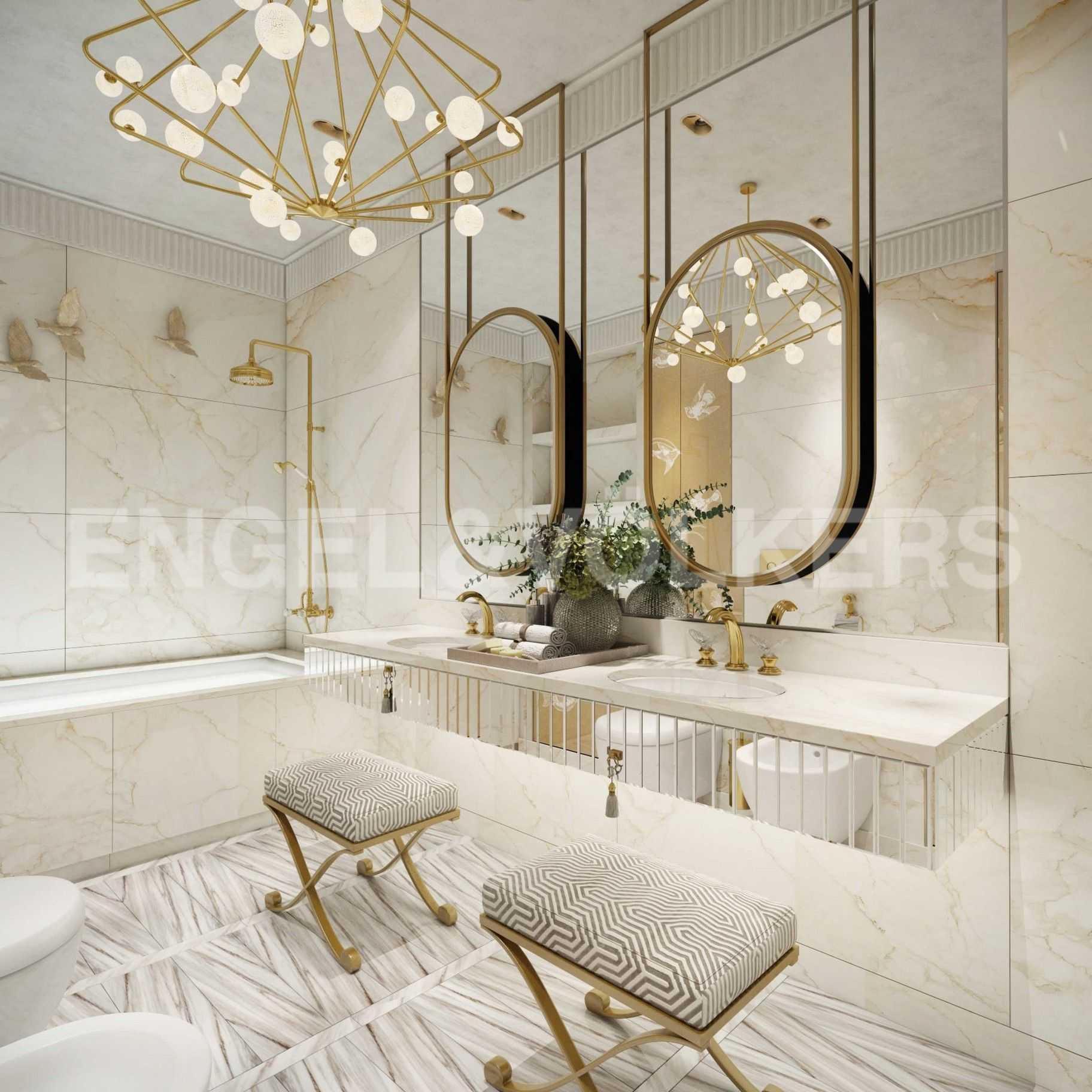 Элитные квартиры в Центральном районе. Санкт-Петербург, Парадная, 3. Проект детской ванной комнаты