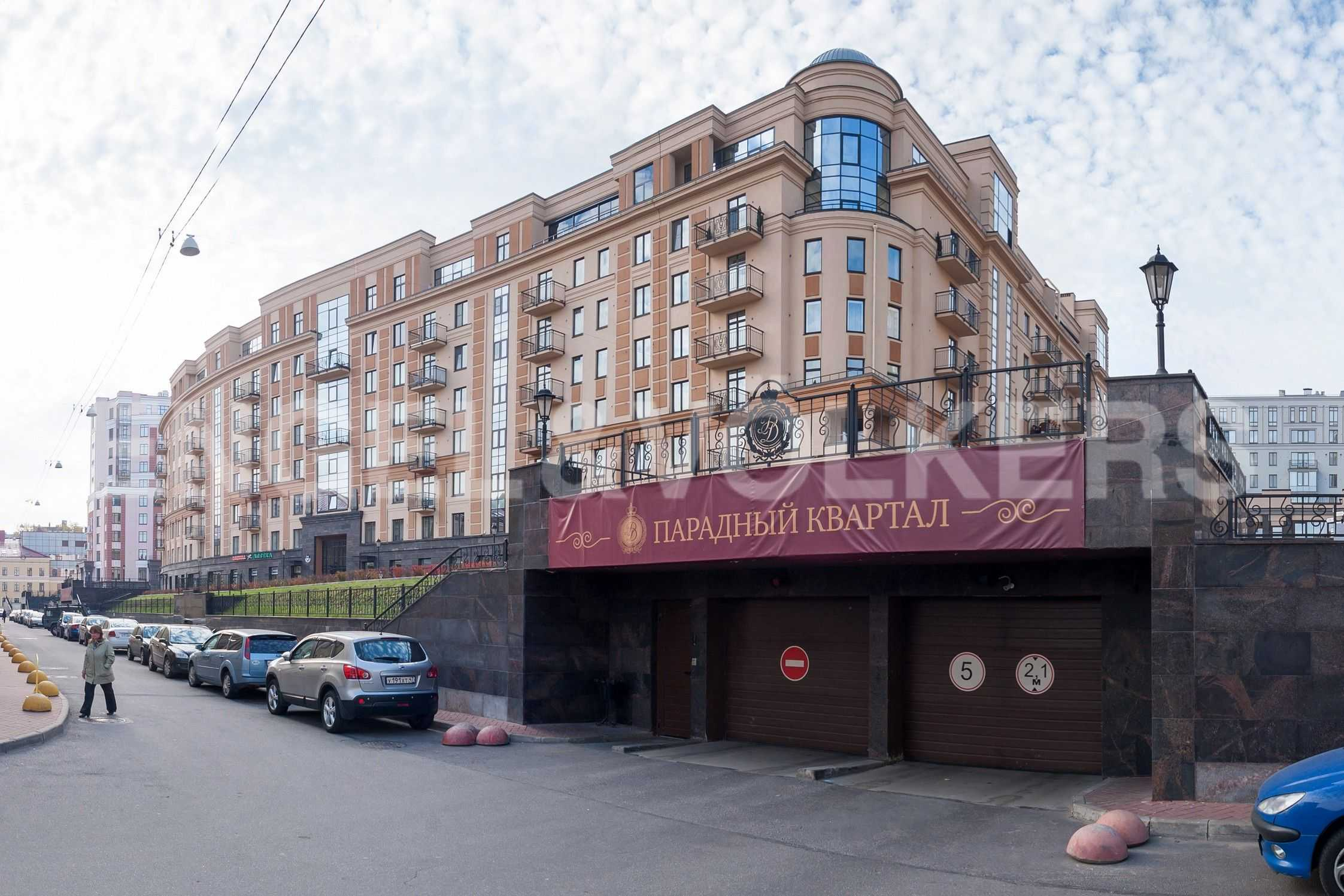 Элитные квартиры в Центральном районе. Санкт-Петербург, Парадная, 3. Фасад дома со стороны Парадной улицы