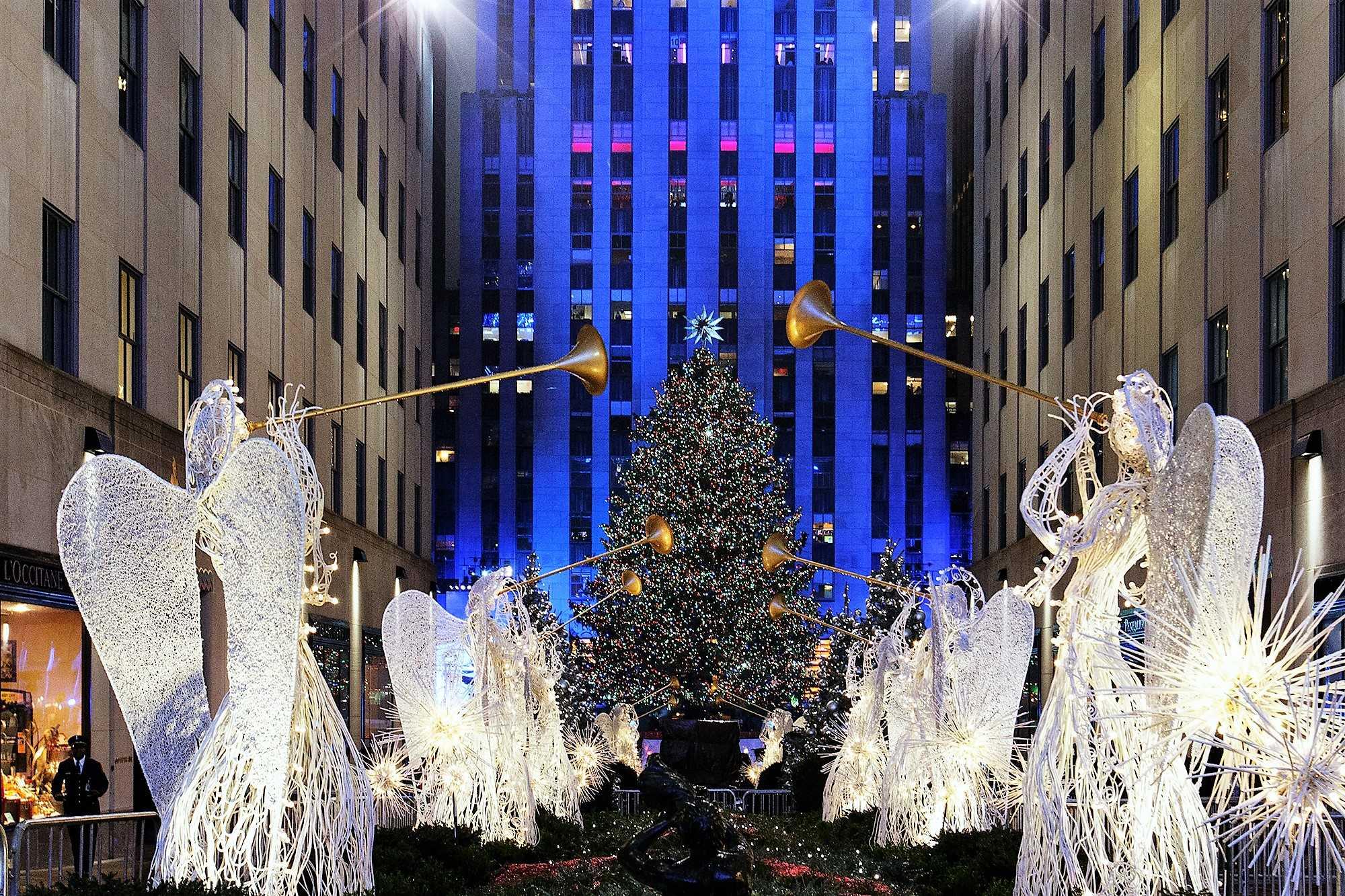 Всемирно известная елка - Нью-Йорк, США