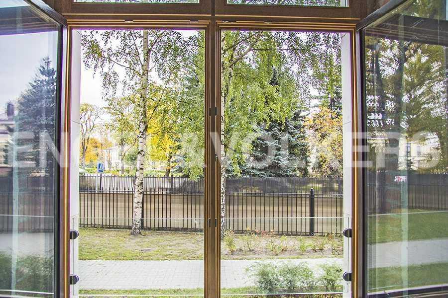 Вид из окон на зелень Крестовского