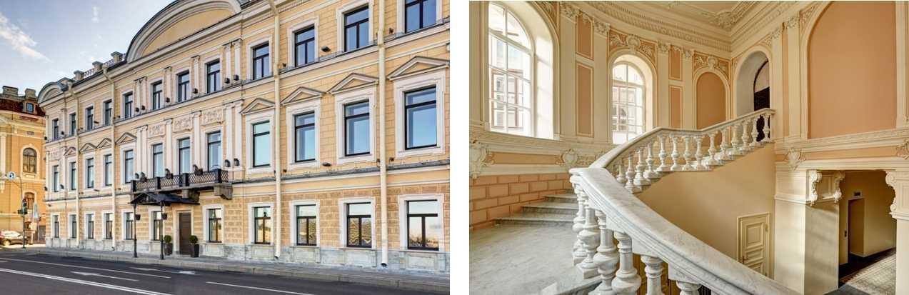 мраморная лестница от знаменитого архитектора Н. Бенуа