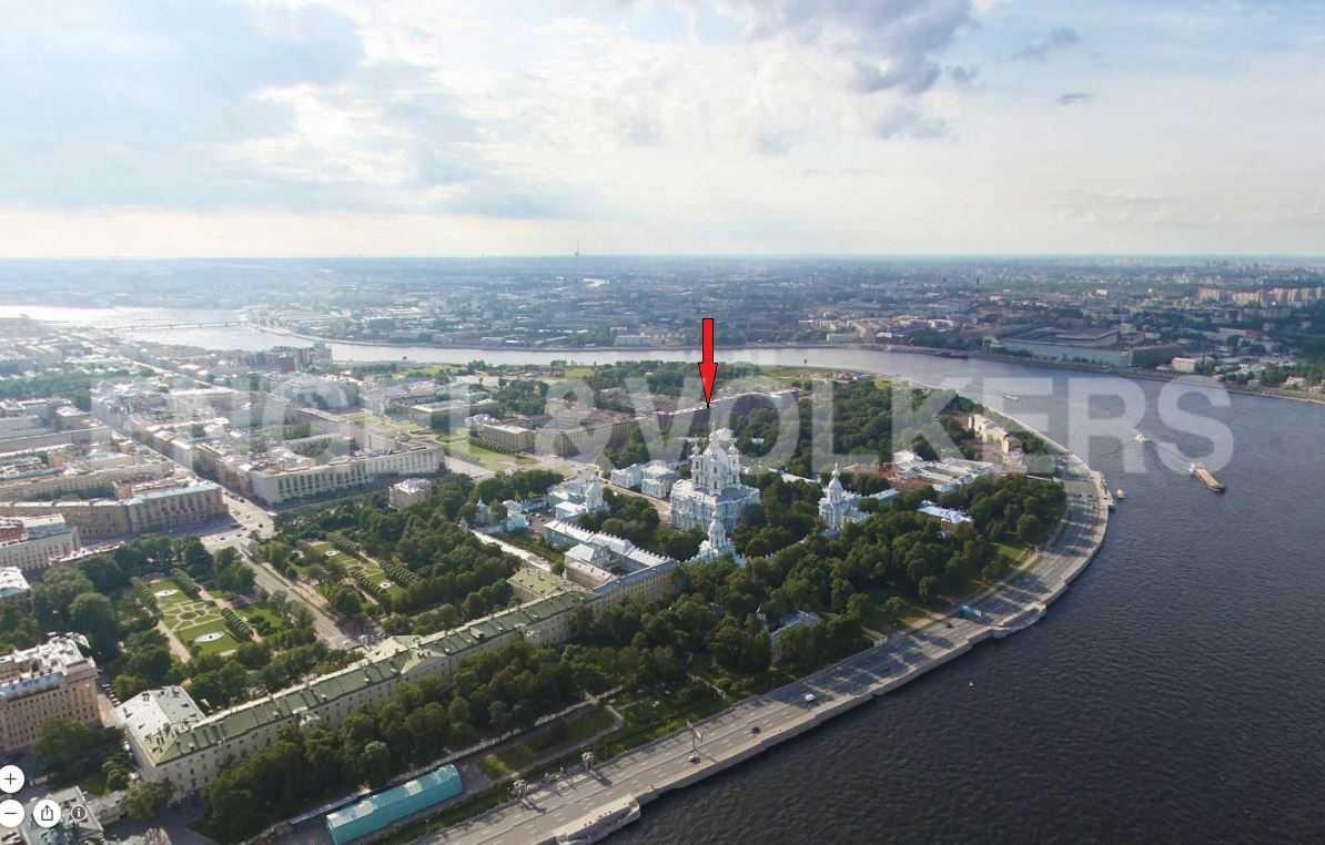 Элитные квартиры в Центральный р-н. Санкт-Петербург, Смольная наб.,8. Местоположение