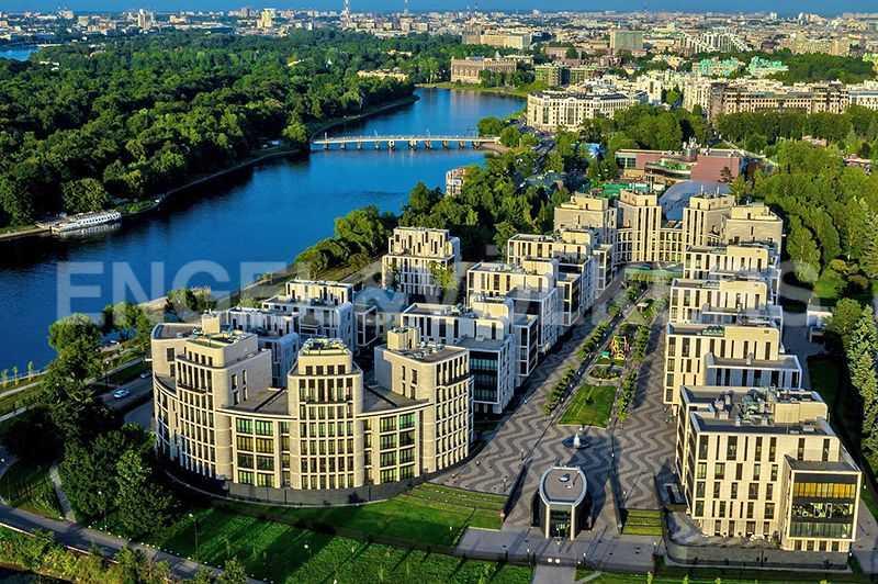 Элитные квартиры на . Санкт-Петербург, наб. Мартынова, 74. Вид сверху на жилой комплекс