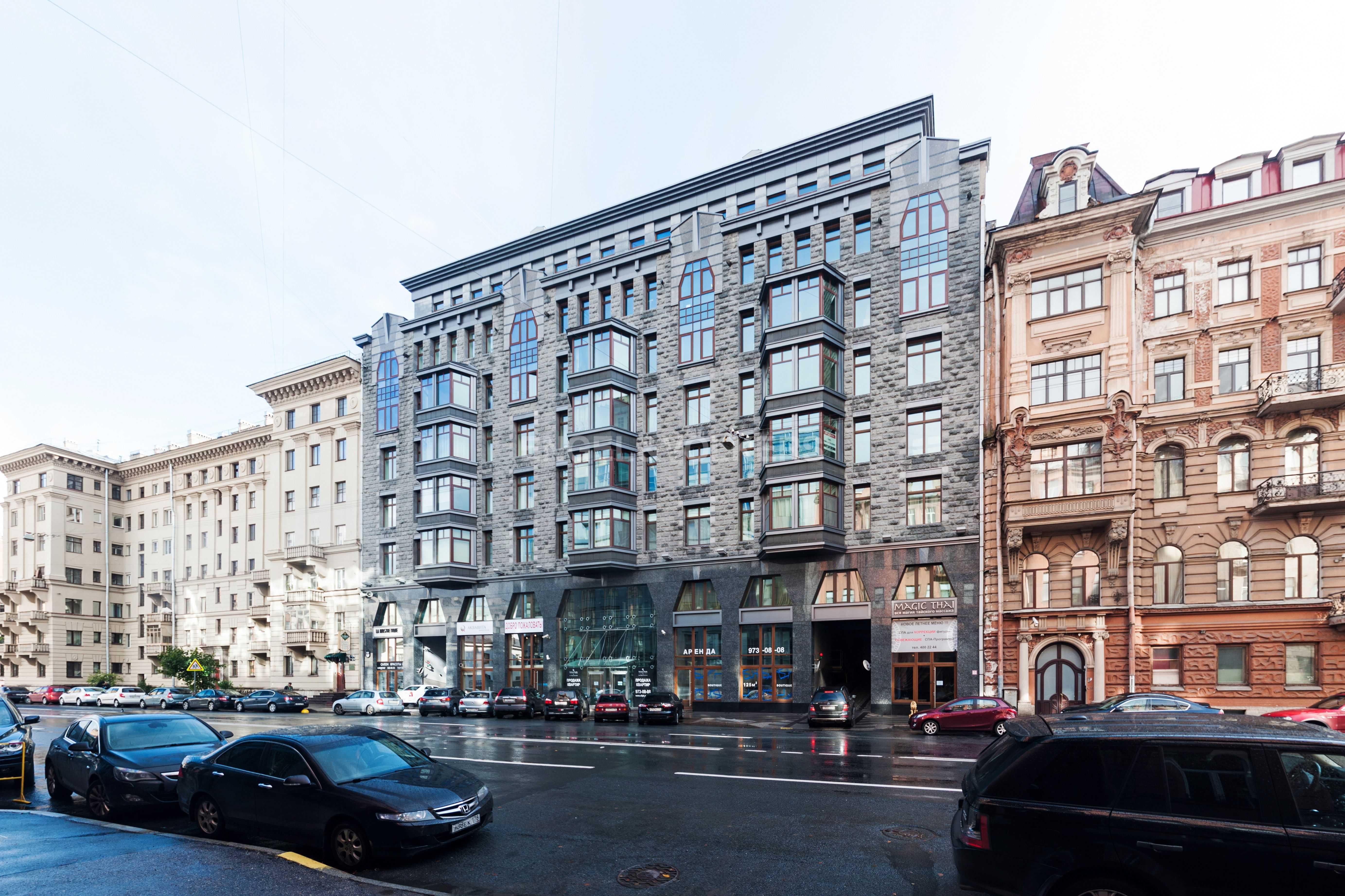 Элитные квартиры в Центральном районе. Санкт-Петербург, Тверская ул., 1A . Фасад дома
