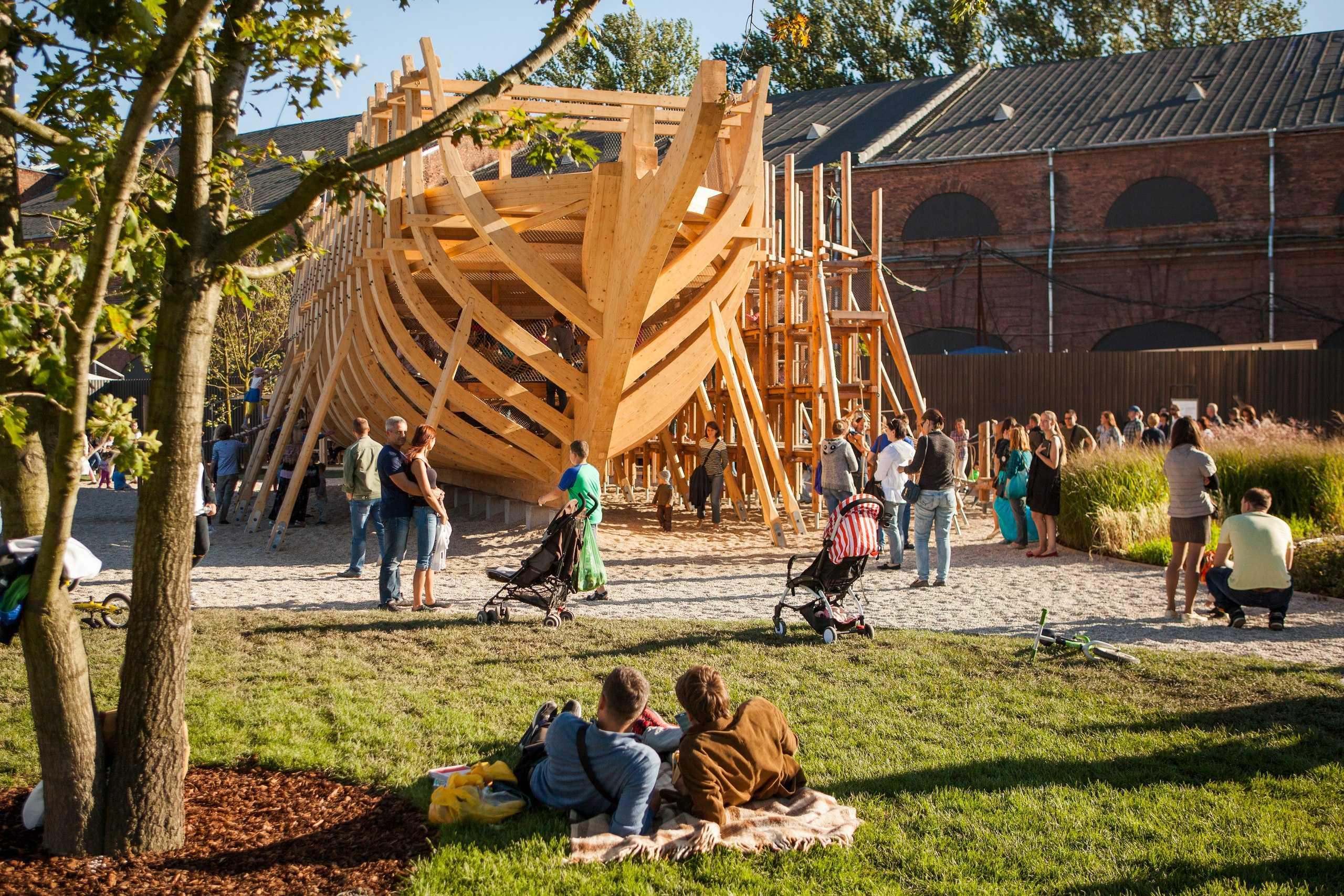 Открытие комплекса Новая Голландия - Детская площадка