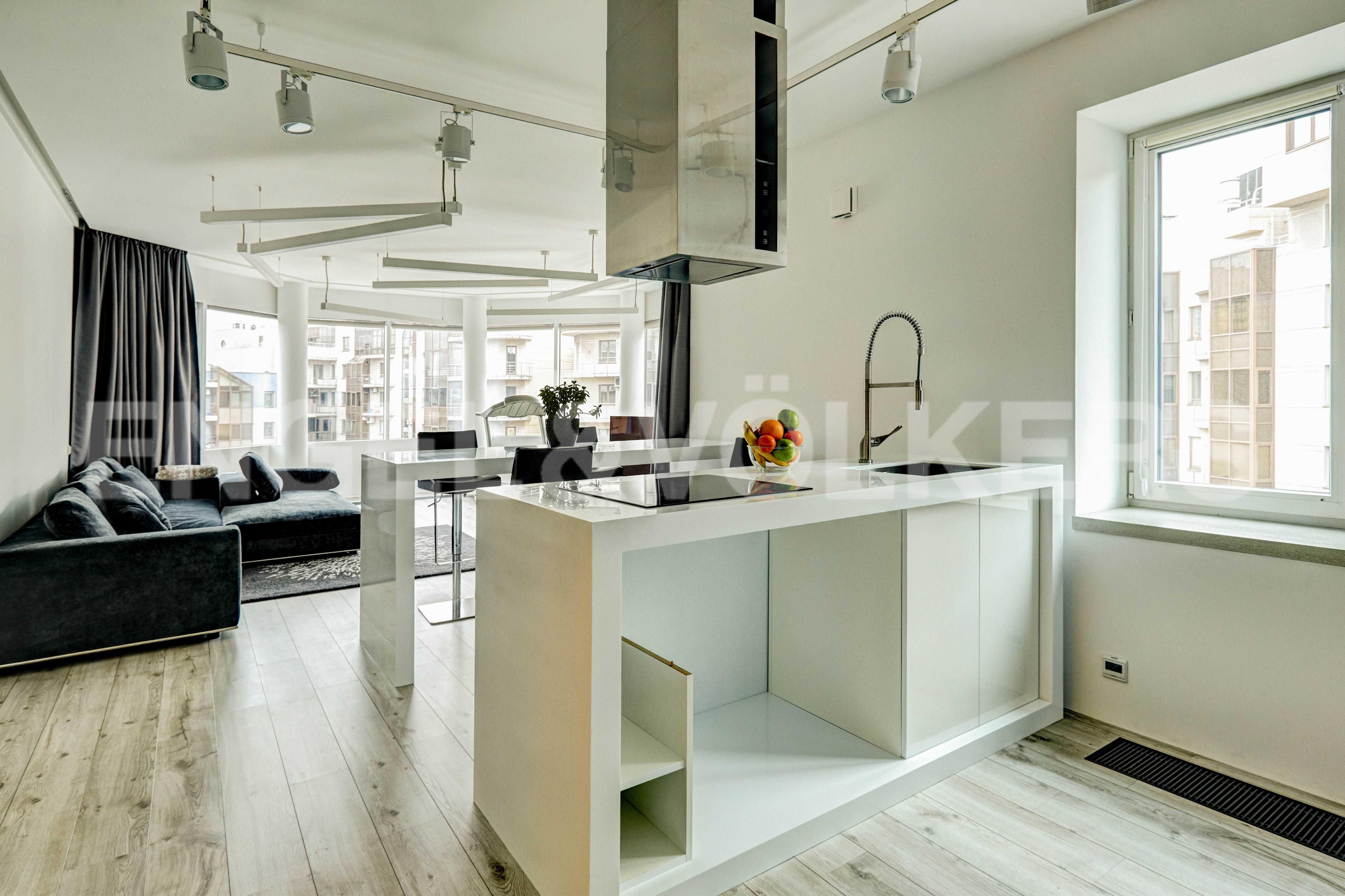 Кухня гостиная в стиле минимализм