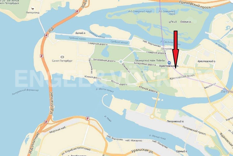 Элитные квартиры на . Санкт-Петербург, Морской проспект, дом 28. Местоположение на карте