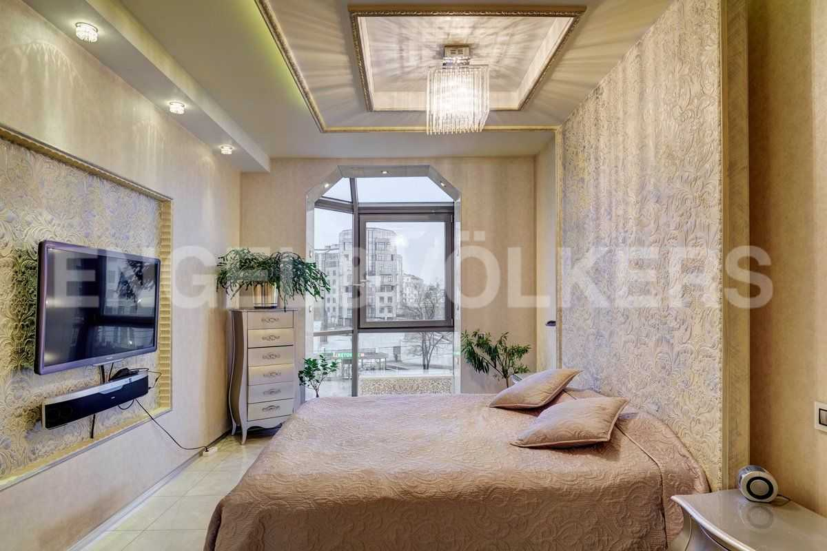 Элитные квартиры на . Санкт-Петербург, ул. Рюхина, д.10. Мастер-спальня