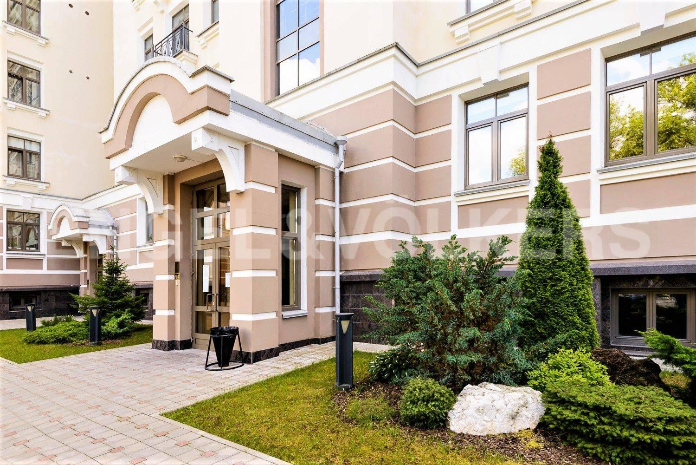 Элитные квартиры на . Санкт-Петербург, Морской проспект, 24. Ландшафтный дизайн