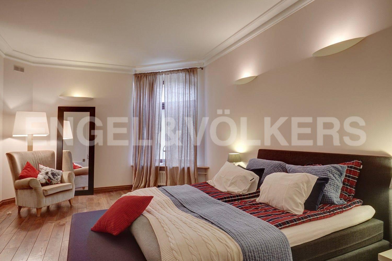 Элитные квартиры в Адмиралтейский р-н. Санкт-Петербург, Конногвардейский бульвар, 13. Основная спальня