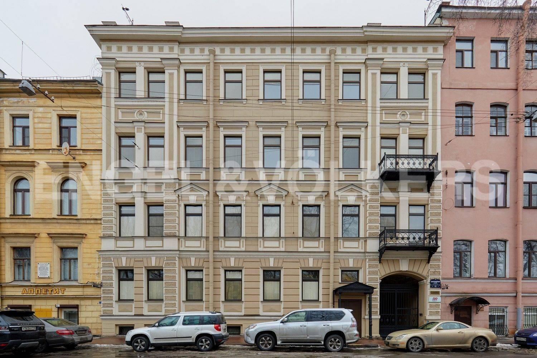 Элитные квартиры в Адмиралтейский р-н. Санкт-Петербург, Конногвардейский бульвар, 13. Фасад дома со стороны Конногвардейского бульвара