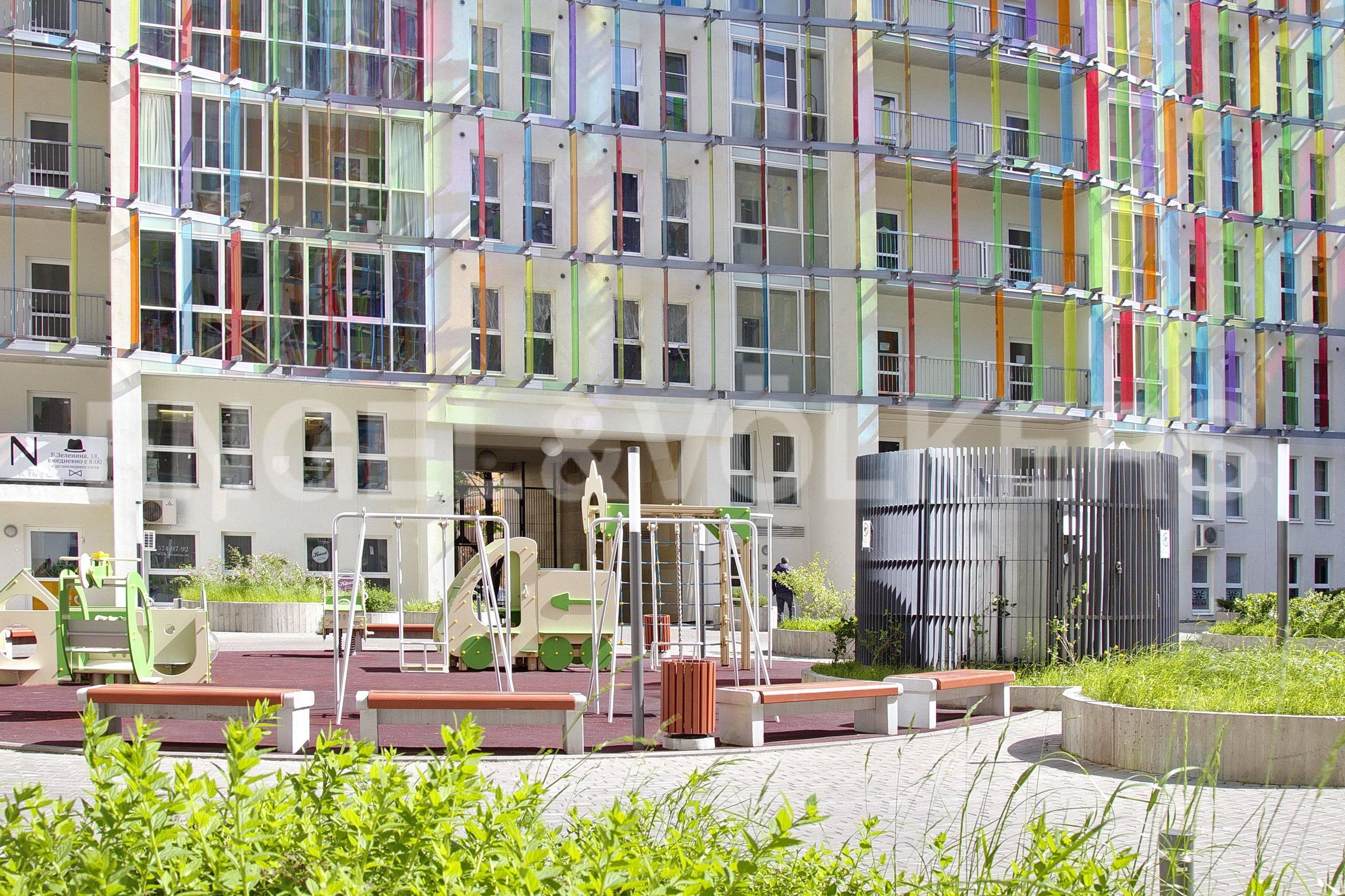 Элитные квартиры в Петроградском районе. Санкт-Петербург, Корпусная улица, 9. Внутренняя территория комплекса