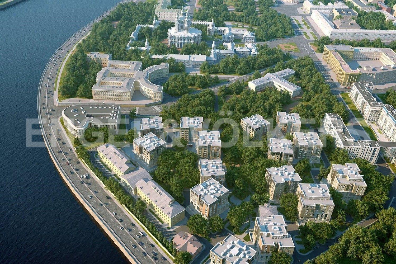 Элитные квартиры в Центральном районе. Санкт-Петербург, Смольного ул., 4. Месторасположение комплекса