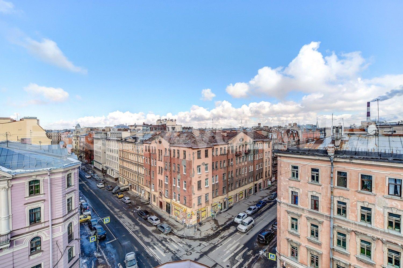 Элитные квартиры в Центральном районе. Санкт-Петербург, Конная, 13. Вид из окна гостиной