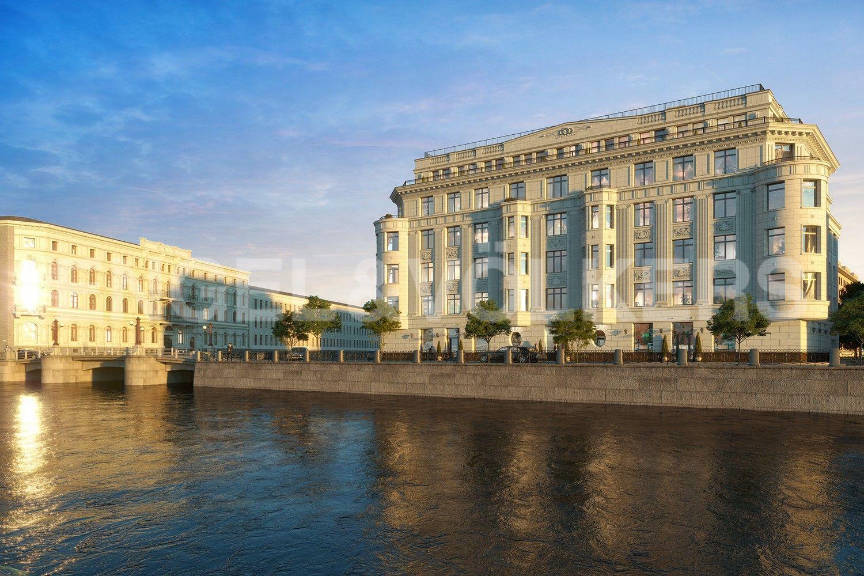 Элитные квартиры в Центральном районе. Санкт-Петербург, Наб. реки Мойки, 102. Гранитные набережные реки Мойка