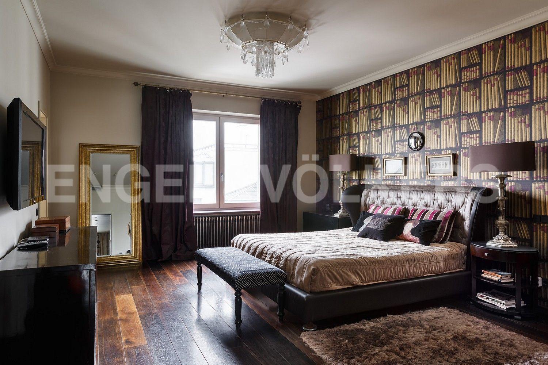 Элитные квартиры в Центральном районе. Санкт-Петербург, Шпалерная, 60. Мастер-спальня с ванной комнатой и гардеробной
