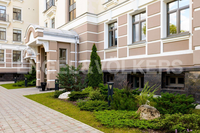 Элитные квартиры на . Санкт-Петербург, Морской пр., 24. Ландшафтный дизайн