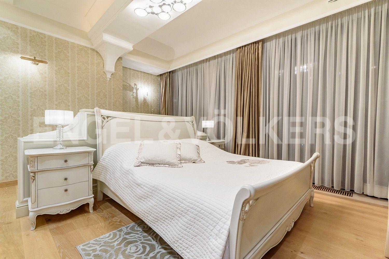 Элитные квартиры на . Санкт-Петербург, наб. Мартынова, 62. Спальня