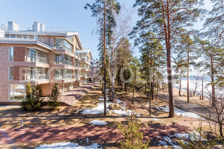 Элитные квартиры в Курортном районе. Санкт-Петербург, г. Зеленогорск, Приморское шоссе, дом 502А. Вид на территорию комплекса