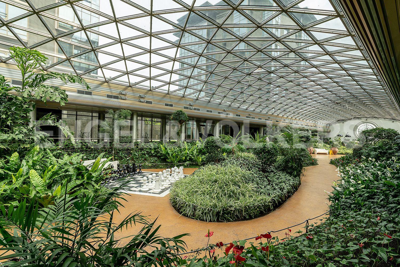 Элитные квартиры на . Санкт-Петербург, Константиновский, 23. 25_Атриум с садом внутри комплекса