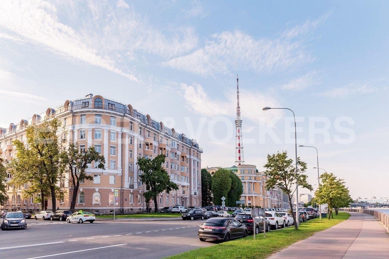 Элитные квартиры в Петроградском районе. Санкт-Петербург, Аптекарская наб., 6. Фасад