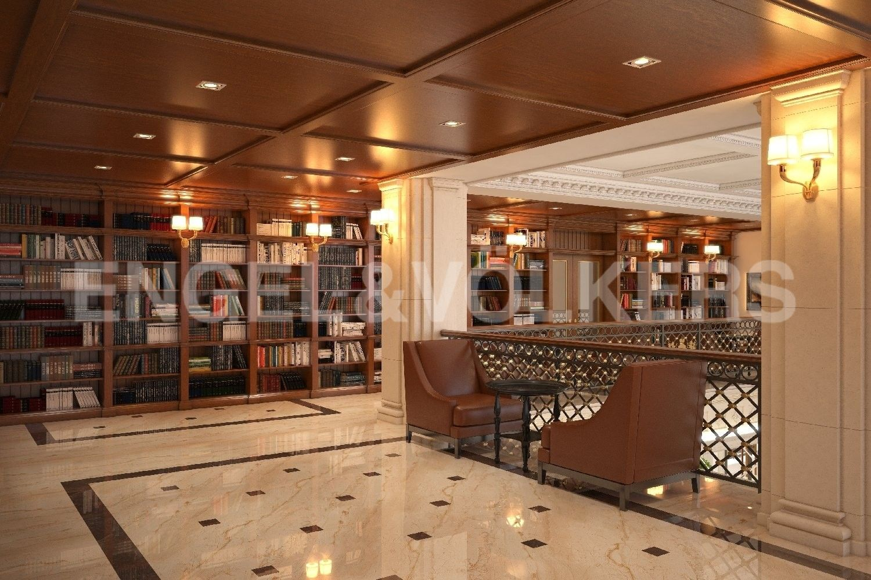 Элитные квартиры на . Санкт-Петербург, наб. Гребного канала, д. 1. Библиотека