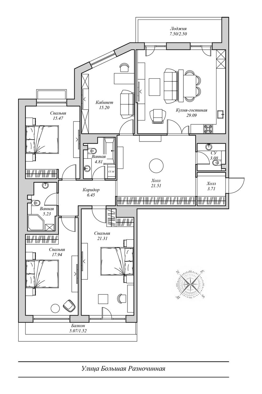 Планировка №43 Family Loft