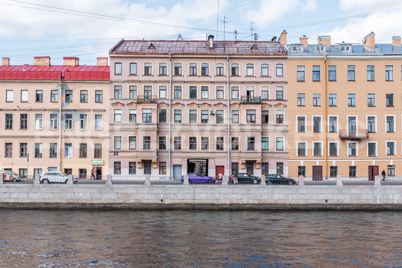 Элитные квартиры в Центральном районе. Санкт-Петербург, Наб. реки Фонтанки, 135А. Фасад дома со стороны набережной реки Фонтанки