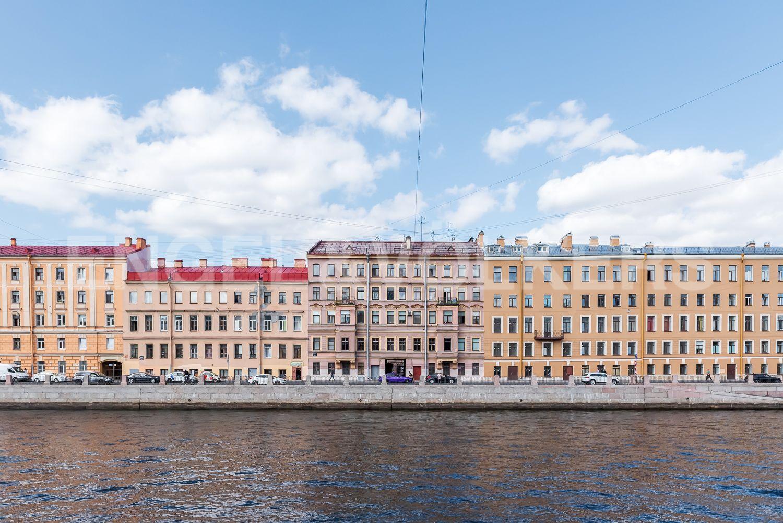 Элитные квартиры в Центральном районе. Санкт-Петербург, Наб. реки Фонтанки, 135А. Фасад дома с четной стороны набережной риеки Фонтанки