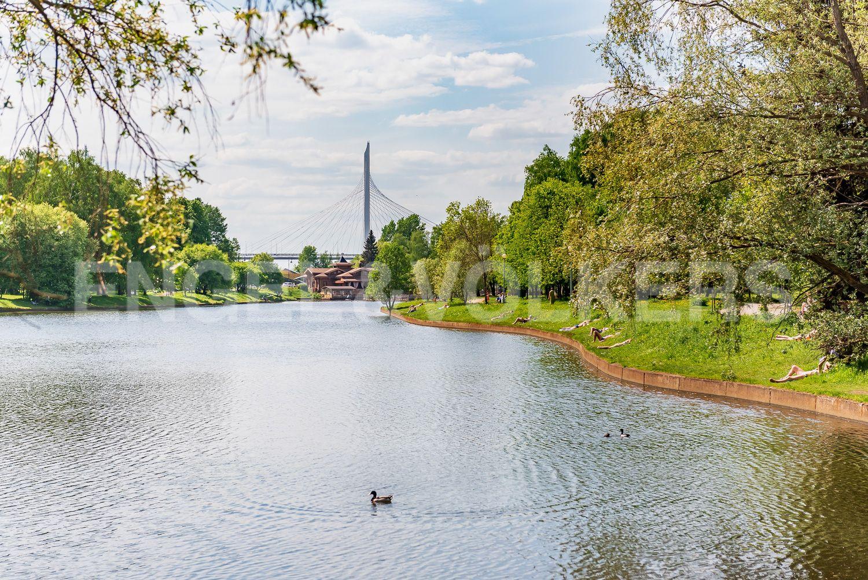 Озеро перед комплексом