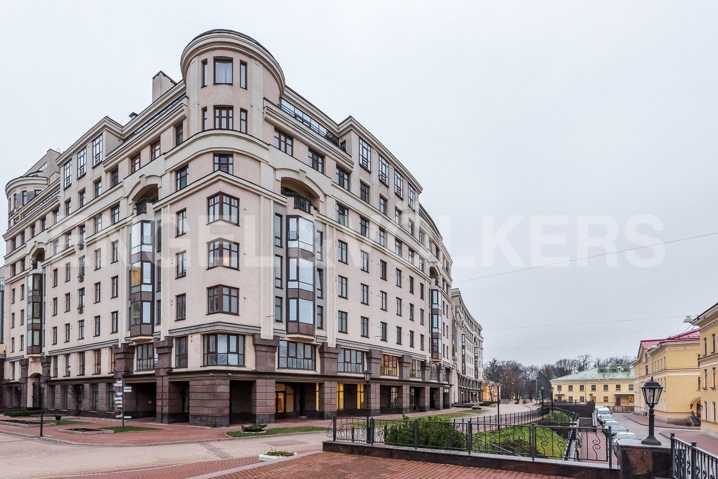 Элитные квартиры в Центральном районе. Санкт-Петербург, ул. Парадная, д. 3, к. 2. Расположение корпуса