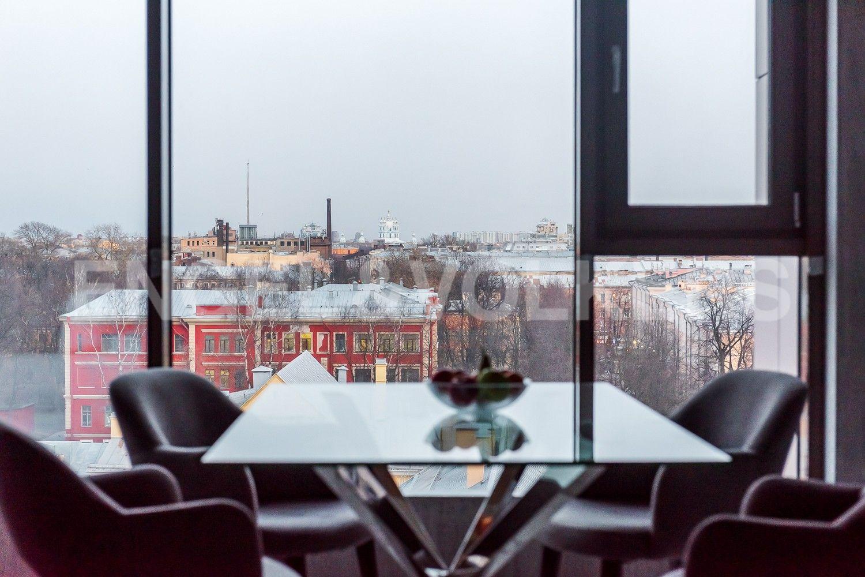 Элитные квартиры в Центральном районе. Санкт-Петербург, Большой Сампсониевский пр. 4-6, лит. А. Панорамный вид на город