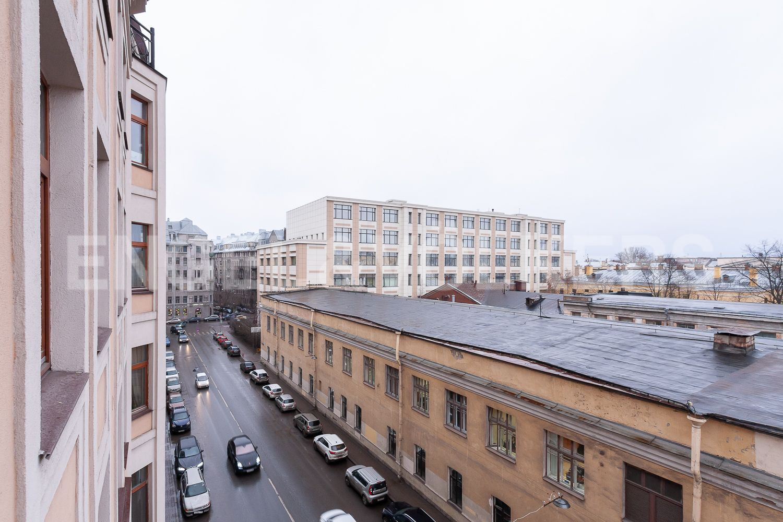 Вид на улицу 9-я Советская в сторону Греческого проспекта
