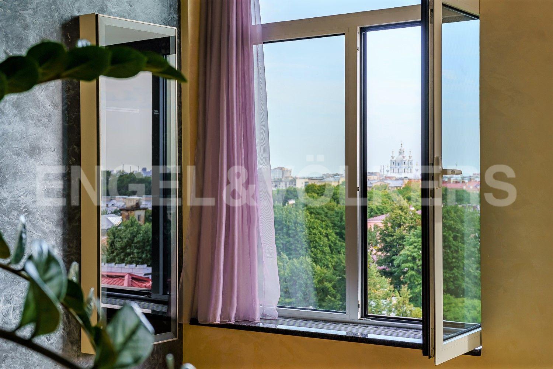 Элитные квартиры в Центральном районе. Санкт-Петербург, Парадная ул., д. 3, к. 2. Вид на Смольный